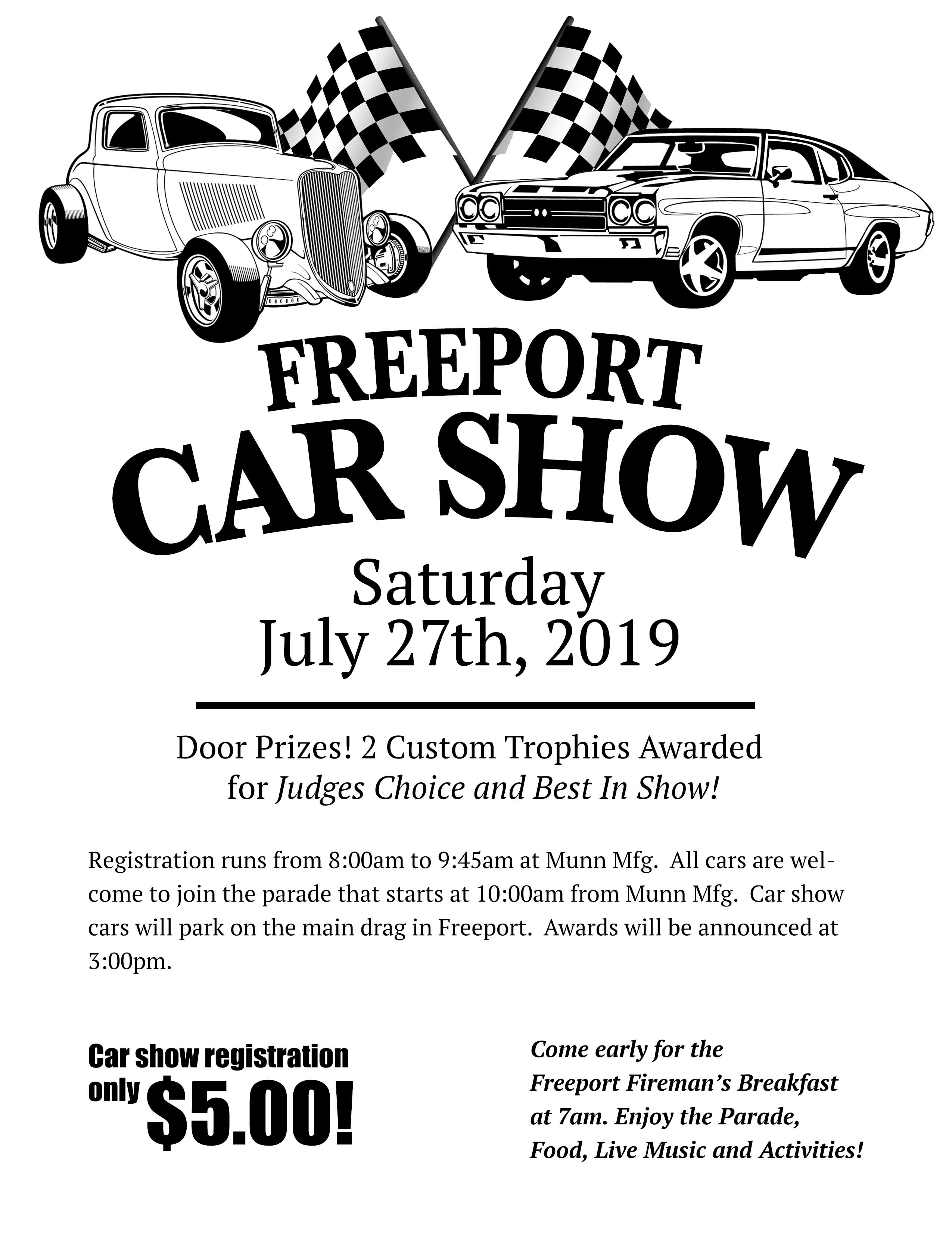 2019 Freeport Homecoming Car Show Flyer